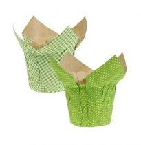 Maceta de papel Ø10cm H8cm verde 8pcs