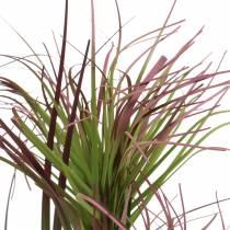 Hierba artificial en maceta Verde, rojo violeta 45cm