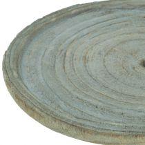 Placa decorativa madera de paulonia Ø22cm
