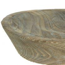 Cuenco decorativo madera de paulonia ovalada 44cm x 19cm H8cm
