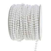 Cinta perla blanca Ø4mm 20m