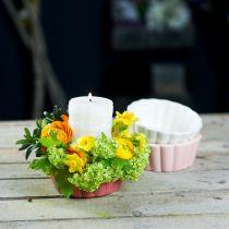 Molde para hornear jardinera, molde para plantar, maceta de cerámica Al5cm Ø12.5cm 3ud