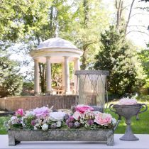 Jardinera, canaleta decorativa, jardinera efecto antiguo L51cm