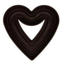 """Planta corazón """"Amora"""" 45cm marrón, 1p"""