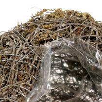 Corazón de plantas hecho de enredaderas y líquenes Naturaleza 25cm x 19cm