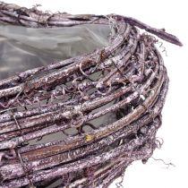 Planta corazón de vid blackberry blanco lavado 27cm x 24cm