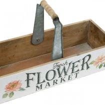 Caja de plantas, decoración de flores, caja de madera para plantar, caja de flores de aspecto nostálgico 41.5 × 16cm