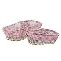 Set de cestas de plantas de 2 Wave Pink, Nature