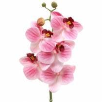 Rama de orquídea artificial Phaelaenopsis rosa H49cm