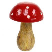 Toadstool de madera roja 15,5cm.