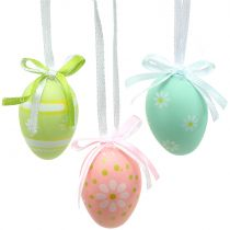 Huevos de Pascua para colgar coloridos 4cm 12pcs