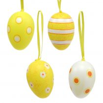 Percha de huevos de plástico amarillo 6cm 12pcs