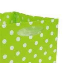 Bolsa de plástico 10,5cm x 10,5cm x 10,5cm verde 12pcs