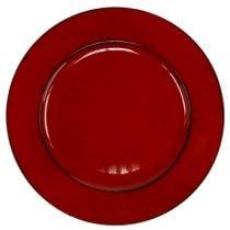 Plato plástico Ø33cm rojo-negro