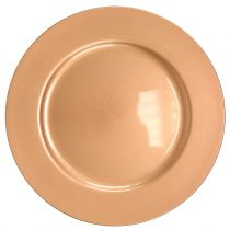 Plato plastico cobre Ø33cm