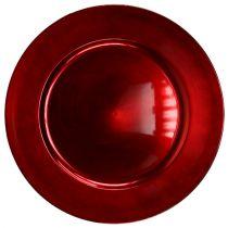 Plato Plástico Rojo Ø17cm 10 St