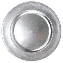 Plato plastico plata Ø17cm 10pcs