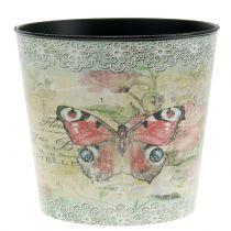 Maceta decorativa mariposa vintage Ø17cm