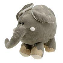 Peluche elefante 35cm Gris
