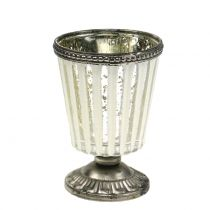 Candelita vaso de plata campesina H11cm