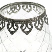 Vaso de vidrio antiguo Ø13cm H18,5cm