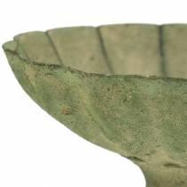 Taza cuenco verde antiguo Ø13cm H11,5cm
