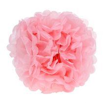 Pompón de papel Rosa claro Ø30cm 5piezas