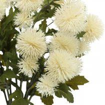 Rama de pompones crema deco rama otoño 55cm 4pcs