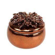 Caja de porcelana cobre Ø7,5cm H6cm