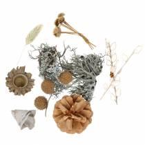 Mezcla de decoración de otoño como set artesanal Seco Blanqueado 150g