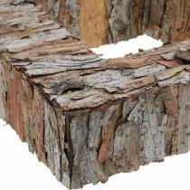 Corteza de árbol decorativa cuadrada corteza de pino abierta decoración de otoño 30 × 30cm
