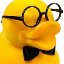 Figura decorativa pato con gafas amarillo, divertida decoración de verano, pato decorativo en bandada