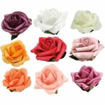 Foam-Rose Ø3,5cm diferentes colores 48pcs