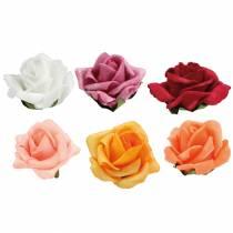 Foam-Rose Ø4,5cm diferentes colores 36pcs