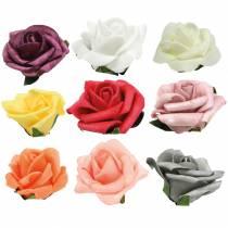 Foam-Rose Ø6cm diferentes colores 27pcs