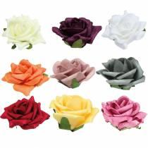 Foam-Rose Ø7,5cm diferentes colores 18pcs