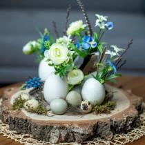 Ramo de ranúnculos con jacintos de uva blanco 25cm