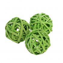 Rattan Ball Spring Green Ø4cm 12pcs