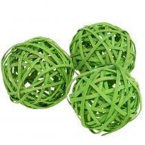 Rattanball verde claro Ø6cm 6pcs