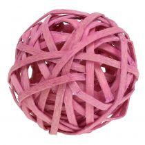 Rattanball Rosa Ø4cm 12pcs