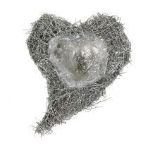 Corazón de vid blanco lavado 16cm x 21cm 1p