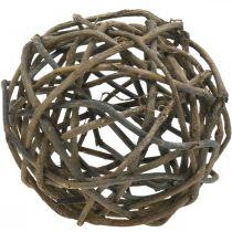 Bola decorativa parra natural oscuro Ø25cm