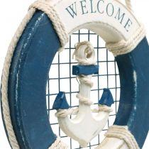 Aro salvavidas decorativo, marítimo, anilla flotante para colgar Ø14cm