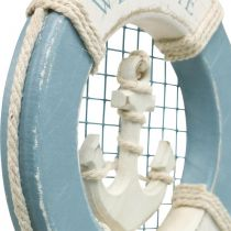 Decoración marítima, aro salvavidas con ancla, aro de natación decoración Ø14cm