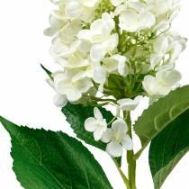 Panícula de hortensia blanco crema, hortensia artificial, flor de seda 98cm