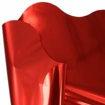Puño rondella rojo metalizado bicolor 60cm 50pcs