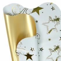 Decoracion de ramo motivo navideño 60cm blanco 50pcs