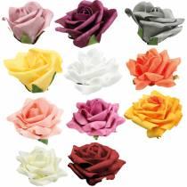 Foam-Rose Ø10cm diferentes colores 8pcs