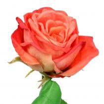 Rosa flor artificial salmón 67,5cm