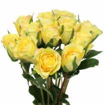 Rosa amarilla 42cm 12pcs
